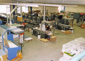 Drucksaal im Neubau 1995 - Mugler Masterpack