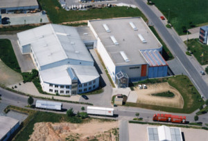 Luftaufnahme Produktionsstandort Wuestenbrand 1998 - Mugler Masterpack