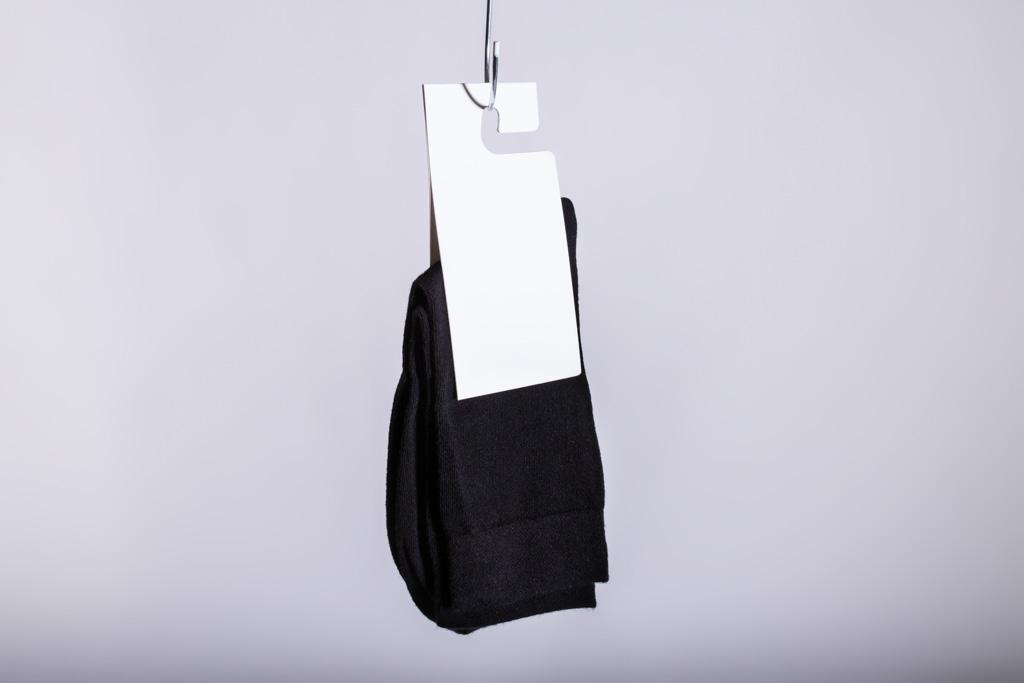 Aufhängeetikett für Socken - Mugler Masterpack GmbH
