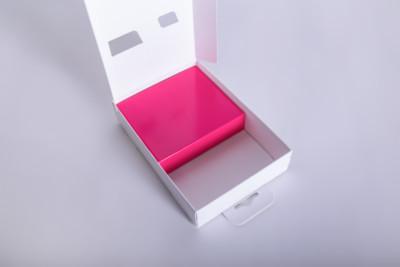 Eine Faltschachtel mit Stülpdeckel und Platzhalter - Mugler Masterpack GmbH