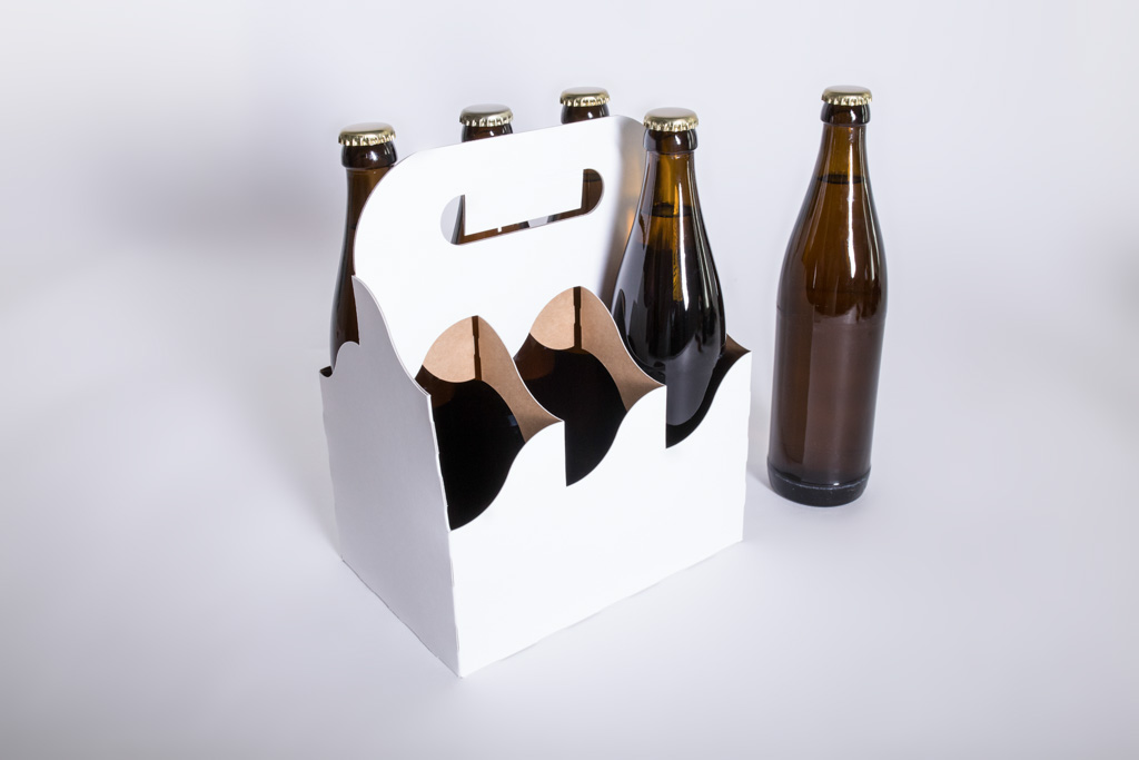 Flaschenträger aus Kraftkarton - Mugler Masterpack GmbH