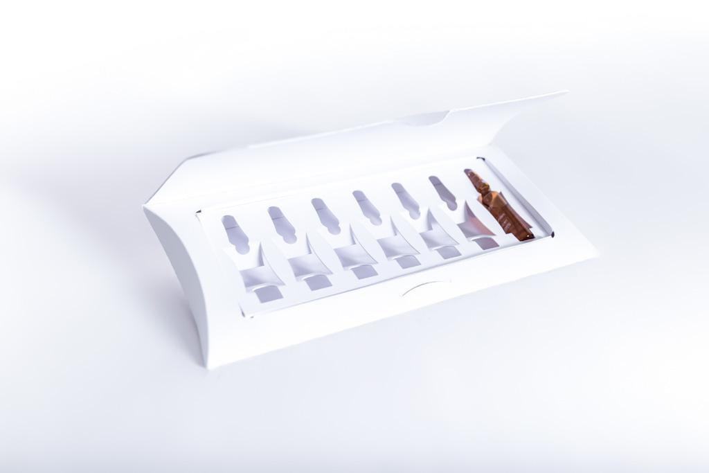 Kissenverpackung für Ampullen - Mugler Masterpack GmbH