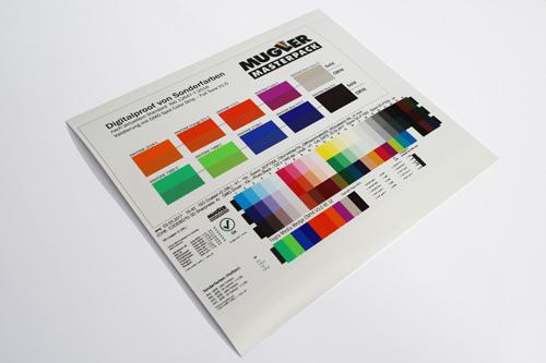 Digitalproof für Sonderfarben - Mugler Masterpack