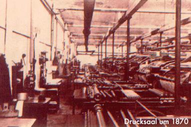 Drucksaal um 1870 in Crimmitschau - Mugler Masterpack