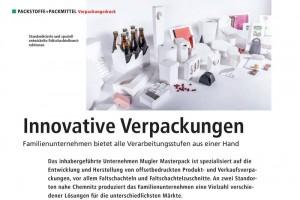 Artikel VR 09/17 über Mugler Masterpack