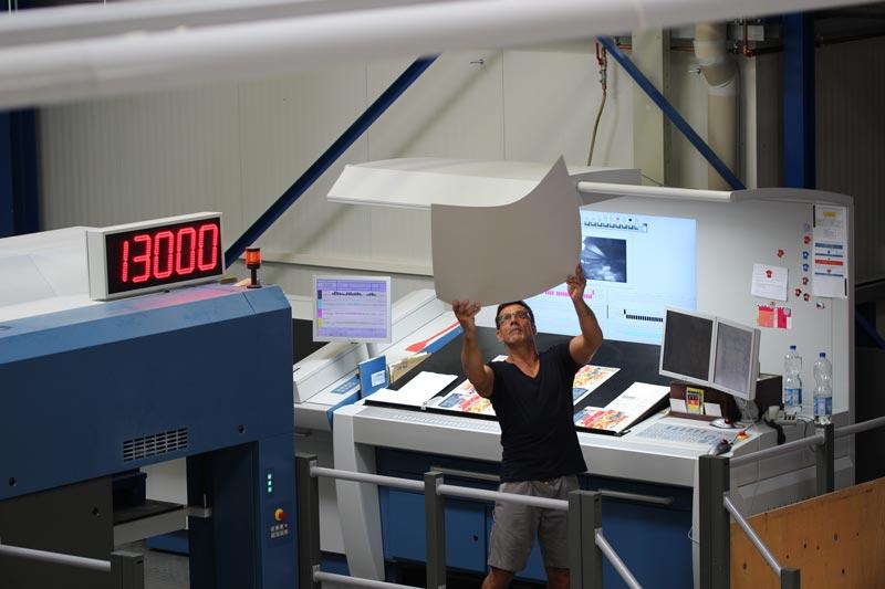 Drucker am Druckleitstand - Mugler Masterpack GmbH