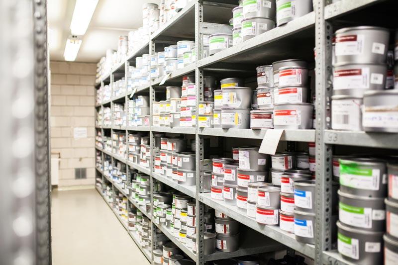Farblager der Druckerei - Mugler Masterpack GmbH